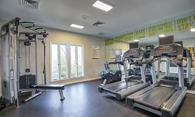 Fitness Weight Room, Steeplechase Apartments, 1