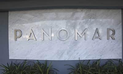 Community Signage, Panomar Apartments, 2