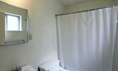 Bathroom, Mayfield Garden Apartments, 2