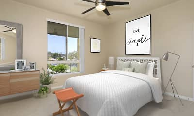 Bedroom, City Pointe, 1