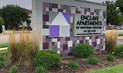 Community Signage, Enclave Apartments, 1