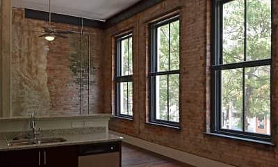 Living Room, Lamar Lofts, 2
