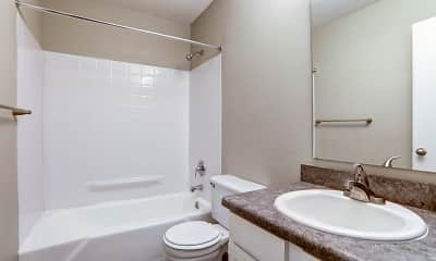 Bathroom, Tiger Pointe Apartments, 2