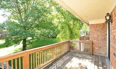 Patio / Deck, Carmel Village Green Apartments, 2