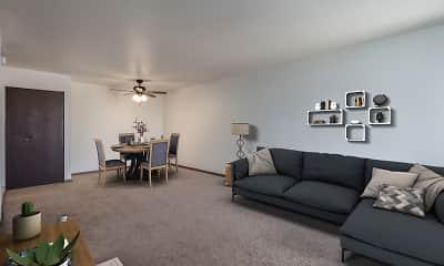 Living Room, Park Plaza Apartments, 2