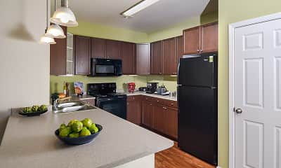 Kitchen, The Park at Walnut Ridge, 1