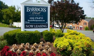 Community Signage, Barracks West Apartments, 0