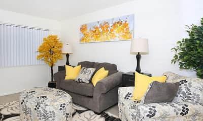 Living Room, Parkside Apartment Homes, 1
