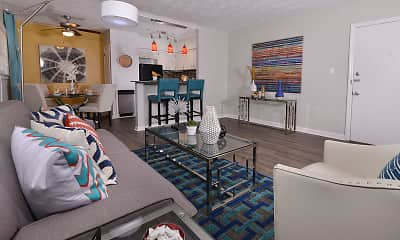 Living Room, South and Madison Apartments, 1