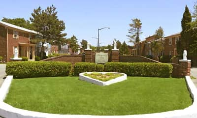 Landscaping, Whispering Hills Apartments, 1