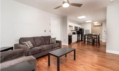 Living Room, Spring Garden Station Student Apartments, 1