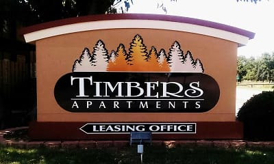 Community Signage, Timbers Apartments, 0