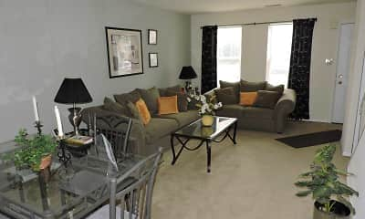 Living Room, Spring Garden Townhouses, 1