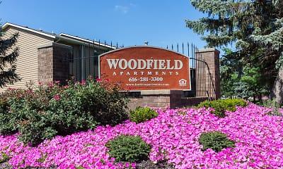 Community Signage, Woodfield Apartments, 0