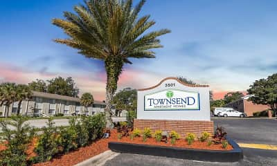 Community Signage, Townsend Apartments, 0