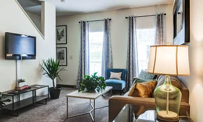 Living Room, The Garden District - Per Bed Lease, 1