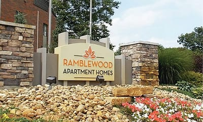 Community Signage, Ramblewood Apartments, 1