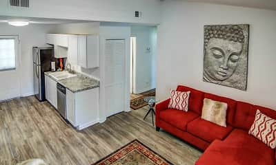 Living Room, Country Lakes Apartments, 1
