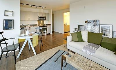 Living Room, 19th & Mercer Apartments, 0
