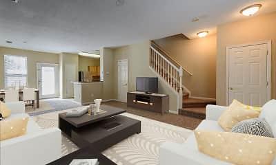 Living Room, Falls Creek Apartments & Townhomes, 1