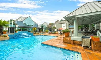 Pool, Turtle Pointe Apartments, 1