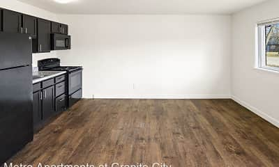 Kitchen, Metro Apartments at Granite City, 0