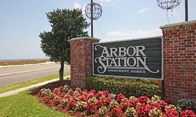 Community Signage, Arbor Station, 2
