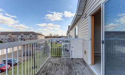 Patio / Deck, Southridge Apartments, 2