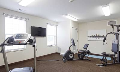 Fitness Weight Room, Huntington Square Senior Apartments, 2