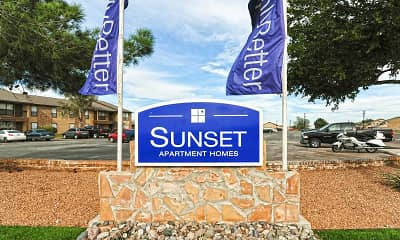 Community Signage, Sunset, 2