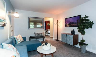 Living Room, Lothian & Oakridge Apartments, 0
