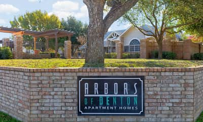Community Signage, Arbors of Denton- Student Housing Only, 2