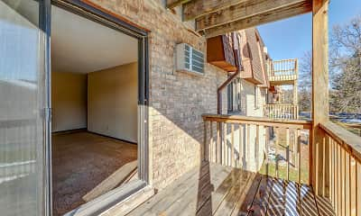 Patio / Deck, Gentry Apartments, 2