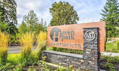 Community Signage, Haven Park Apartments, 1