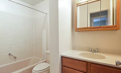 Bathroom, Princeton Arms Apartments North & South, 2
