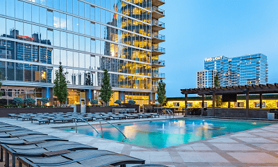 Pool, One Light Luxury Apartments, 1