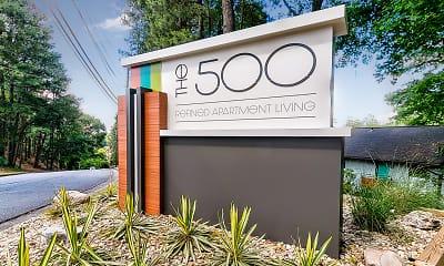 Community Signage, The 500, 2