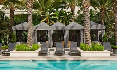Pool, The Americana at Brand Luxury Apartments, 1