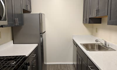 Kitchen, Plaza Apartments, 1