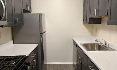 Kitchen, Plaza Apartments, 1
