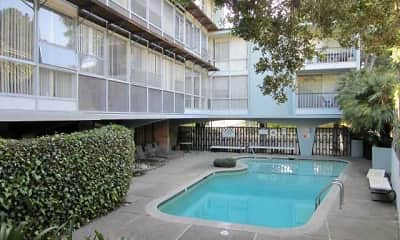 Pool, Royal Pines Apartments, 1