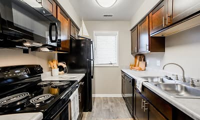 Kitchen, Northlake Village Apartments, 0