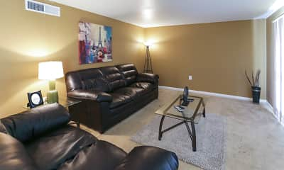 Living Room, Stratford Manor Apartments, 1