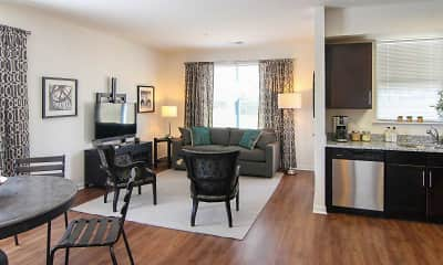 Living Room, Summit Terrace Luxury Apartments, 1