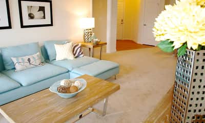 Living Room, Marcella at Town Center Apartments and Townhomes, 2