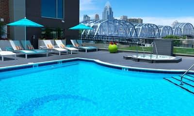 Pool, Aqua on the Levee, 1