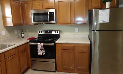 Kitchen, River Road Apartments, 0