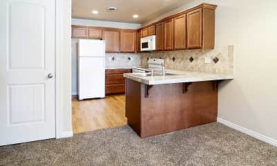 Kitchen, Colonial Apartments, 1
