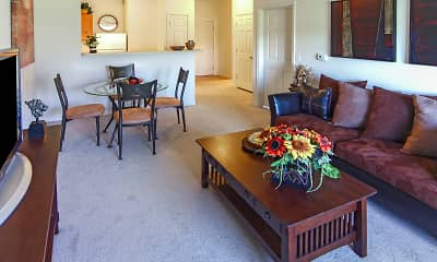 Living Room, Residences at Merrillville Lakes, 1