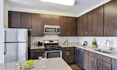 Kitchen, The Key At Yale And Towne, 1